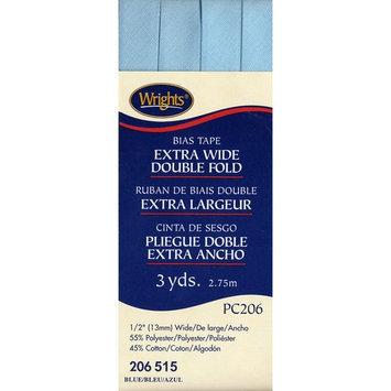 Double Fold Bias Tape 1/2 3 Yards-Blue