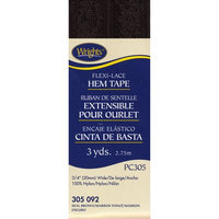 Wrights 117-305-092 Flexi-Lace Hem Tape 3-4 inch 3 Yards-Seal Brown