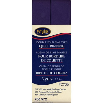 Wright's Double Fold Quilt Binding 7/8 3 Yards-Plum