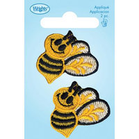 Wright's Wrights Iron-On Appliques-Bumble Bees 1 X1-1/2 2/Pkg