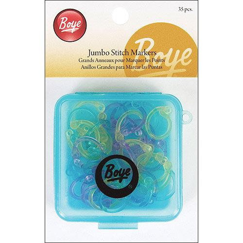 Boye Jumbo Stitch Markers, 35-Pack