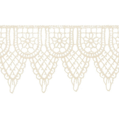 Wright's Double Scalloped Venice Lace 2-1/4X10yd-Candlelight Pack Of 10