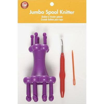 Wm E Wright Ltd. Prt. Boye Plastic Jumbo Spool Knitter Set with Needle/Hook/Instructions