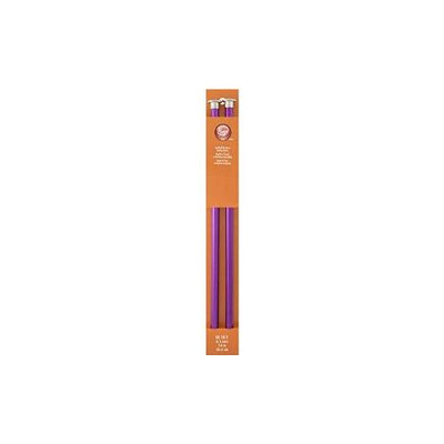 Anodized Aluminum Straight Knitting Needles, 14