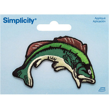 Wright's Simplicity Iron-On Applique-Bass Fish