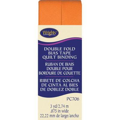 Wright's Double Fold Quilt Binding 7/8X3yd-Orange Peel