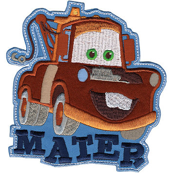 Wright's Disney Cars Mater Iron-On Applique