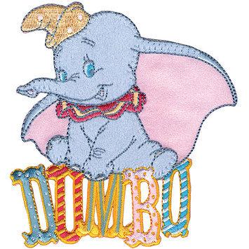 Wright's Disney Dumbo Sitting On Name Iron-On Applique