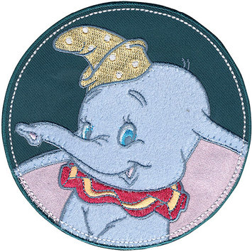 Wright's Disney Dumbo In Stitched Circle Iron-On Applique
