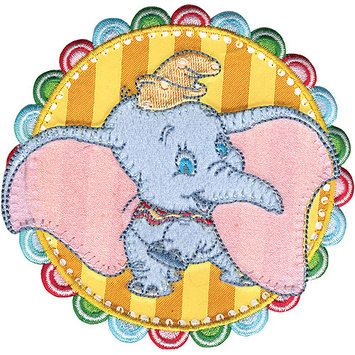 Wright's Disney Dumbo In Striped Circle Iron-On Applique