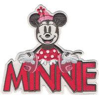 Wright's Disney Mickey Mouse Minnie With Name Iron-On Applique