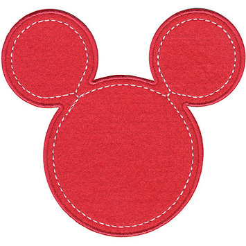 Wright's Disney Mickey Mouse Minnie Pink Silhouette Iron-On Applique