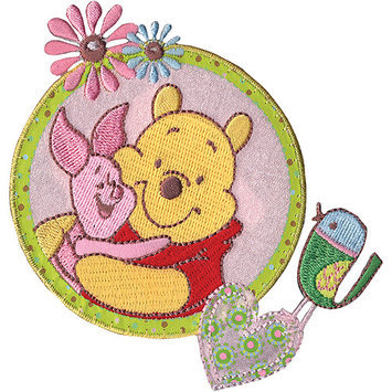 Wright's Disney Winnie The Pooh Piglet & Pooh Iron-On Applique