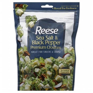 Kehe Distributors REESE 94336 REESE CROUTON SSLT & BLK PPPR - Case of 12 - 6 OZ