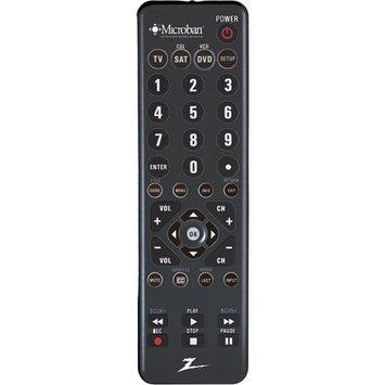 Amertac ZC300MB Zenith Microban Univ Remote Accs 3 Device Lrg Rubberized Keys