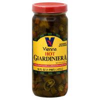 Vienna Giardiniera, Hot, 16 fl oz (1 pt) 0.473 lt