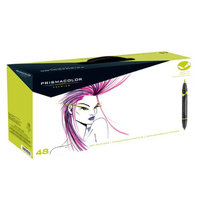 Prismacolor SN1773302 48-Color Double Ended Brush Markers Set