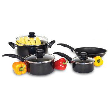 Heuck 7-Piece Non-Stick Cookware Set, Black Aluminum