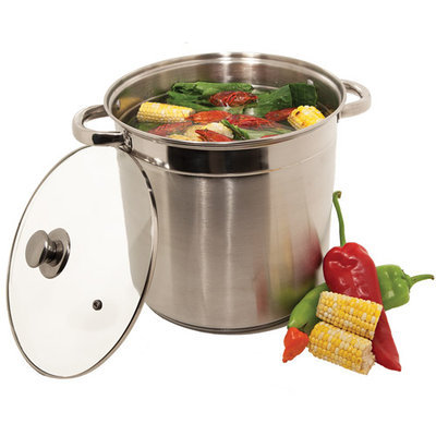 M.e. Heuck Co. Heuck Stainless Steel Stockpot with Glass Lid 12 qt