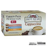 Grove Square Cappuccino Variety Single Serve Cups - 72 ct.