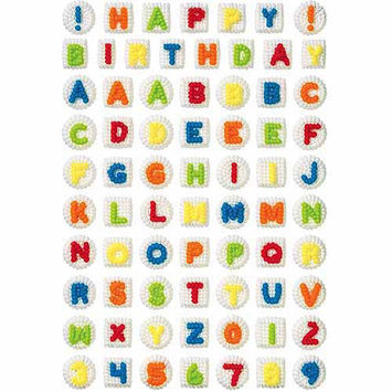 Wilton ALPHABET-NUMERALS EDIBLE ICING DECORATIONS Cake