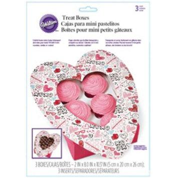 Wilton Mini Cupcake Bakery Box 3/Pkg-Spread Love & Sprinkle Kindness 6 Cavity