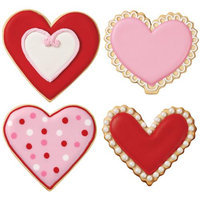 Notions Marketing Cookie Cutter Set 4 Pieces-Heart