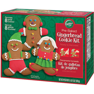 Wilton Gingerbread Boy Cookie Decorating Kit Icing Pre-Baked Treat Christmas