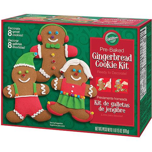 Christmas Cookie Decorating Kit.Wilton Gingerbread Boy Cookie Decorating Kit Icing Pre Baked Treat Christmas