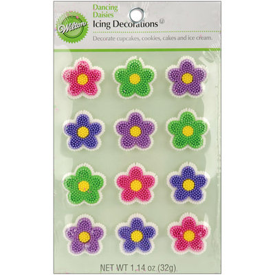 Wilton DANCING DAISY EDIBLE ICING DECORATION Cake Party