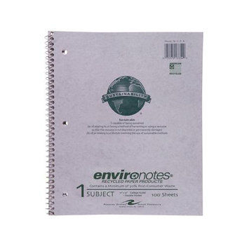 Roaring Spring Paper Products 13354 One Subject Recycled Notebook