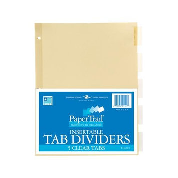 Roaring Spring Paper Products 21122 5 Tab Index Clear - 5 Sheets Per Polywrap