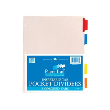 Roaring Spring Paper Products 21126 Pockets & Tabs Index - 24 Per Case