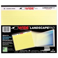 Roaring Spring Paper Products 40 Sheet College Ruled Landscape Wide Pad