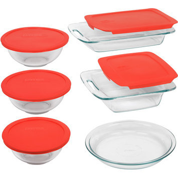 Pyrex 1093841 Easy Grab 11-Pc Bake-n-Store Set