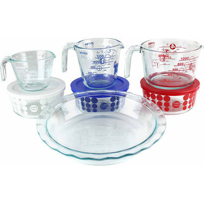 World Kitchen Pyrex 10-Piece Glass Prep, Bake and Store 100 Year Limited Edition Centennial Set