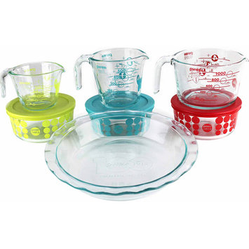 World Kitchen Pyrex 10-piece Glass Prep, Bake and Store 100 Year Limited Edition Vintage Set