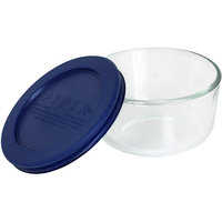 Pyrex 1 Cup Storage Plus Round Dish With Plastic Cover
