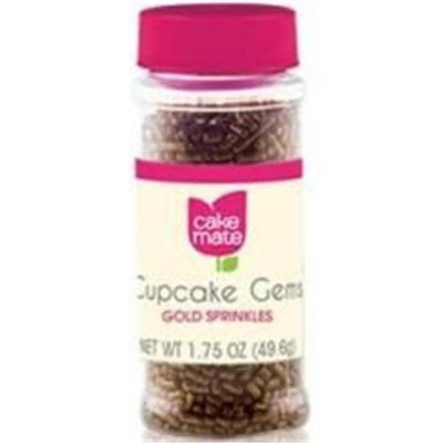 Cake Mate Sprinkles Gems Gold 1.75 OZ (Pack of 6)