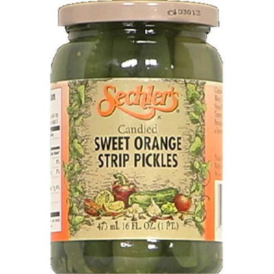 Kehe Distributors SECHLERS 8749 SECHLERS PICKLE CANDIED SWT ORNG STRIP - Pack of 6 - 16 OZ