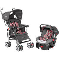The First Years Wisp Travel System, Plaid Gray