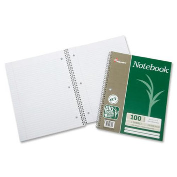 Skilcraft Single-subject Wirebound Notebook - 100 Sheet - 16.00 Lb - College Ruled - Letter 8.50 X 11 - 3 / Pack - White Paper (nsn-6002024)
