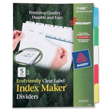 Skilcraft EcoFriendly Clear Label Index Divider