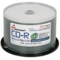National Stock Number Skilcraft Cd Recordable Media - Cd-r - 52x - 700MB - 50 Pack Spindle - 120mm - Thermal Printable - 1.33 Hour Maximum Recording Time (nsn-6269521)
