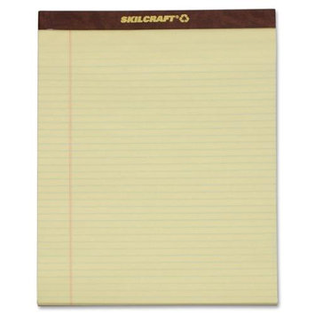 SkilCraft Writing Pad, Perf, 8-1/2