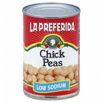 KeHe Distributors 99824 LA PREFERIDA BEAN PEA CHICK LOW SODIUM - Case of 12 - 15 OZ