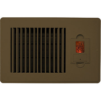 Vent-Miser 206990 Vent-Miser 91667-BR Programmable Energy Saving Vent 10-by-6-Inches Brown