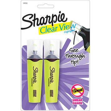 Sanford Sharpie Clear View Highlighters 2/Pkg-Yellow