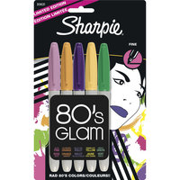 Sharpie Fine Point 80's Glam Markers - Limited Edition 5 Pack