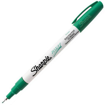 Sharpie Oil-Based Paint Markers, Green, Extra Fine Point